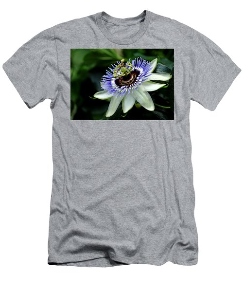Blue Crown Passion Flower Men's T-Shirt (Athletic Fit)