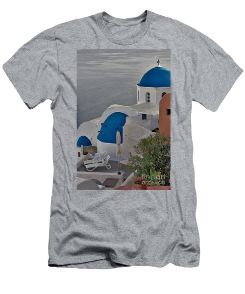 Blue Domes Men's T-Shirt (Athletic Fit)
