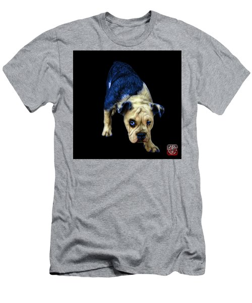 Blue English Bulldog Dog Art - 1368 - Bb Men's T-Shirt (Athletic Fit)