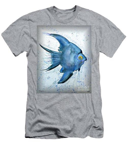 Men's T-Shirt (Slim Fit) featuring the photograph Blue Fish by Walt Foegelle