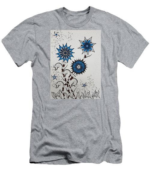 Blue Flower 4 Men's T-Shirt (Athletic Fit)