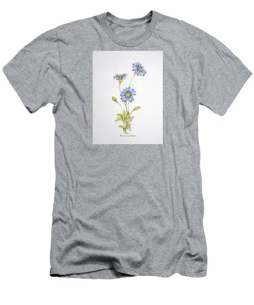 Blue Flower Men's T-Shirt (Slim Fit) by Theresa Marie Johnson
