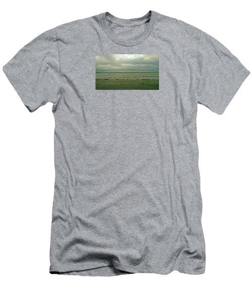 Blue Green Grey Men's T-Shirt (Slim Fit) by Anne Kotan