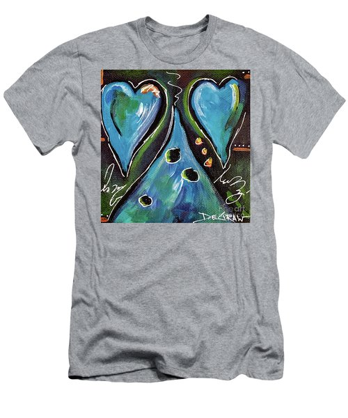 Blue Hearts Men's T-Shirt (Athletic Fit)