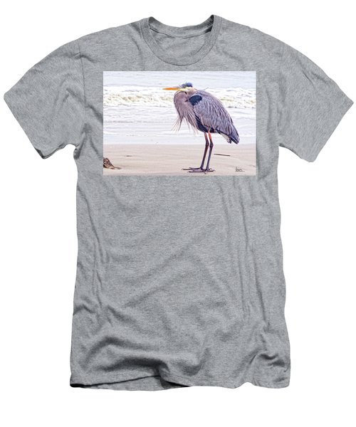 Blue Heron Watching Men's T-Shirt (Athletic Fit)