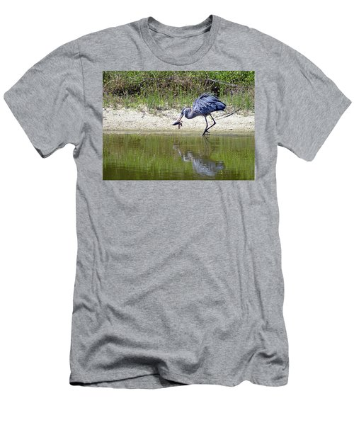Blue Heron's Lucky Day Men's T-Shirt (Athletic Fit)
