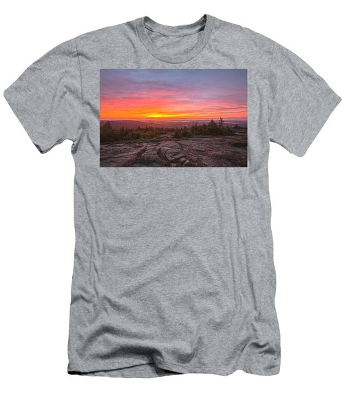 Blue Hill Overlook Alpenglow Men's T-Shirt (Athletic Fit)