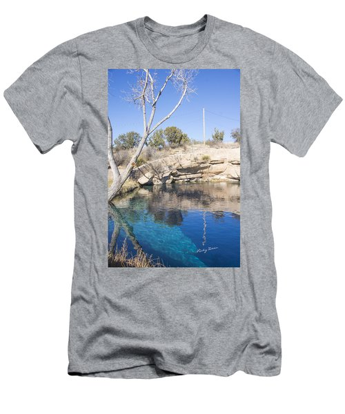 Blue Hole Men's T-Shirt (Slim Fit) by Ricky Dean