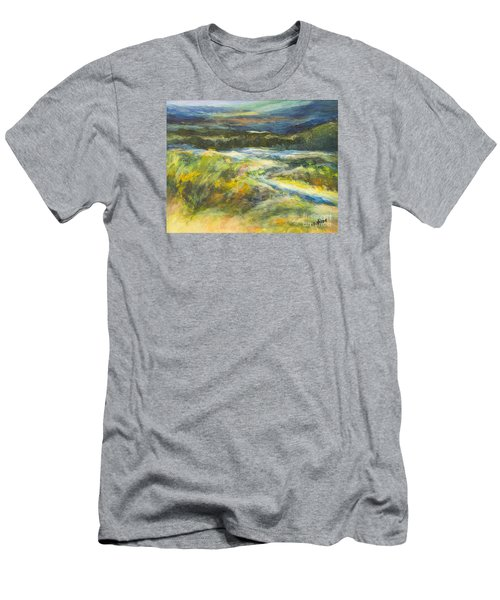 Blue Meadows Men's T-Shirt (Slim Fit) by Glory Wood