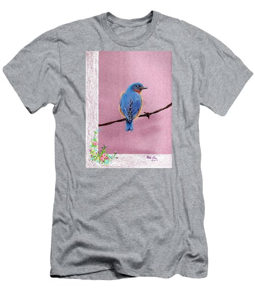 Men's T-Shirt (Slim Fit) featuring the drawing Blue by Mike Ivey