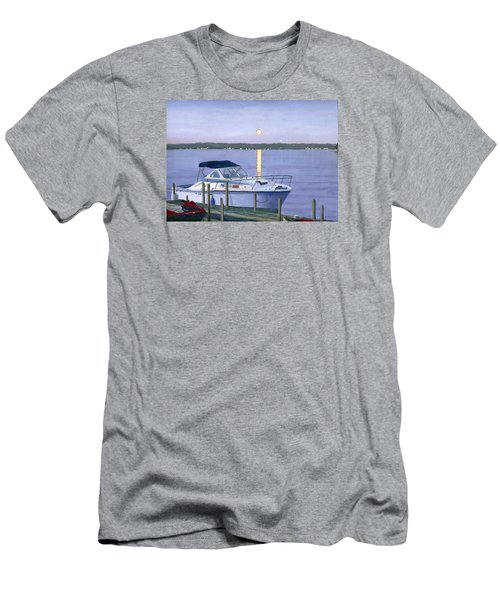 Men's T-Shirt (Athletic Fit) featuring the painting Blue Moon by Lynne Reichhart