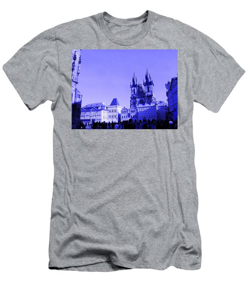 Men's T-Shirt (Athletic Fit) featuring the photograph Blue Praha by Michelle Dallocchio
