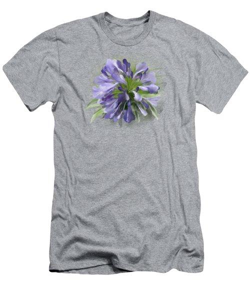 Blue Purple Flowers Men's T-Shirt (Athletic Fit)