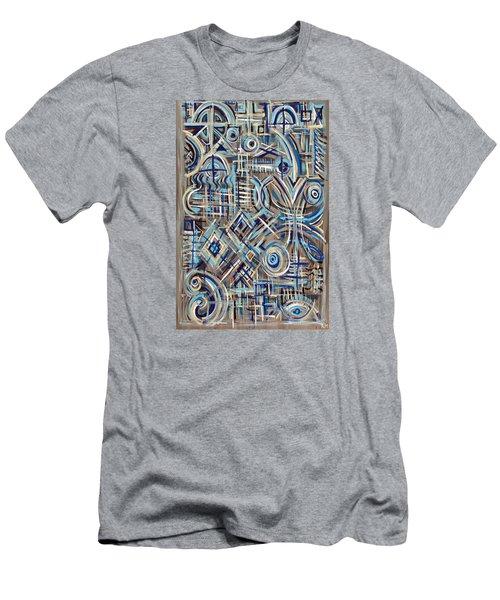 Blue Raucous Men's T-Shirt (Slim Fit) by Paul Moss
