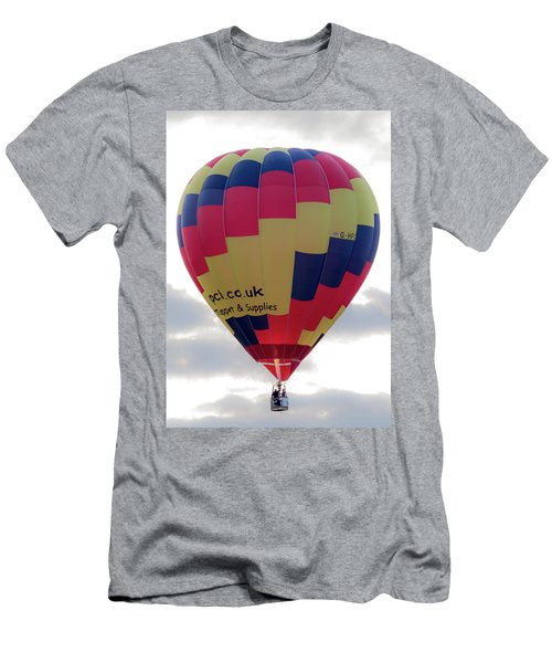 Blue, Red And Yellow Hot Air Balloon Men's T-Shirt (Athletic Fit)