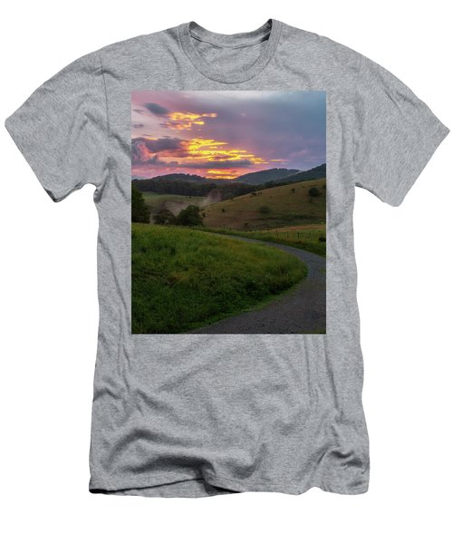 Blue Ridge Sunset Men's T-Shirt (Athletic Fit)