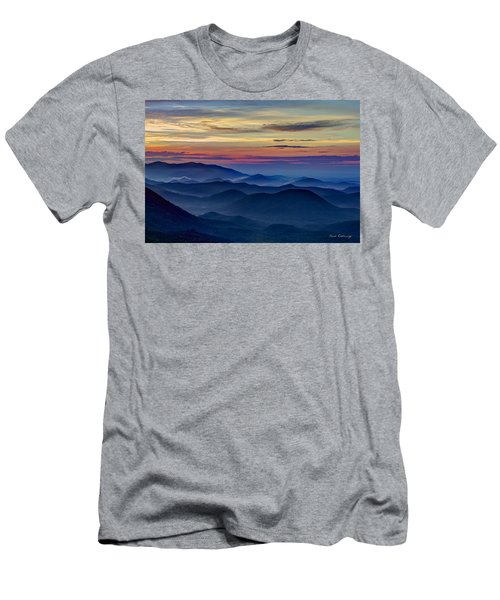 Men's T-Shirt (Athletic Fit) featuring the photograph Blue Ridges Pretty Place Chapel by Reid Callaway