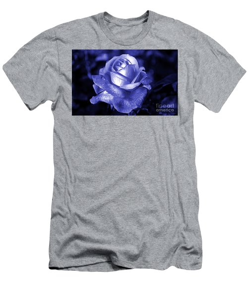Blue Rose Men's T-Shirt (Athletic Fit)