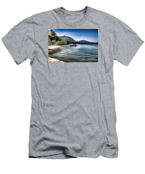 Blue Sea Men's T-Shirt (Slim Fit) by Pravine Chester