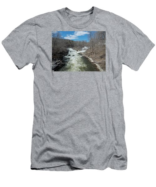 Blue Skies Over The Housatonic River Men's T-Shirt (Slim Fit) by Catherine Gagne