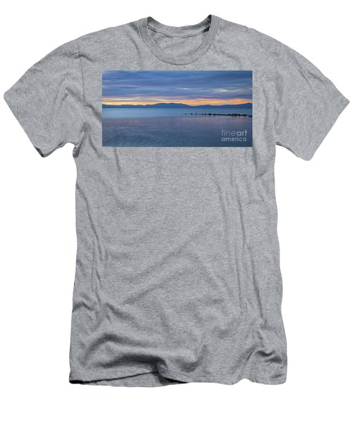 Blue Tahoe Sunset Men's T-Shirt (Athletic Fit)