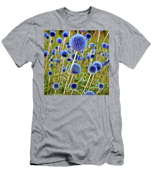 Blue Wild Thistle Men's T-Shirt (Athletic Fit)