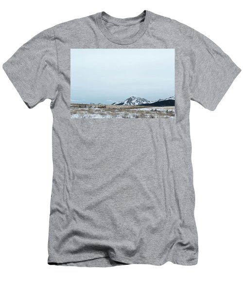 Men's T-Shirt (Athletic Fit) featuring the photograph Blue Winter by Angela Moyer