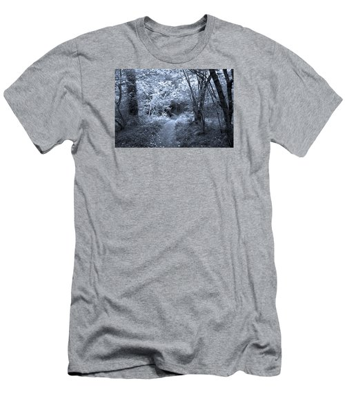 Blue Wood Men's T-Shirt (Athletic Fit)