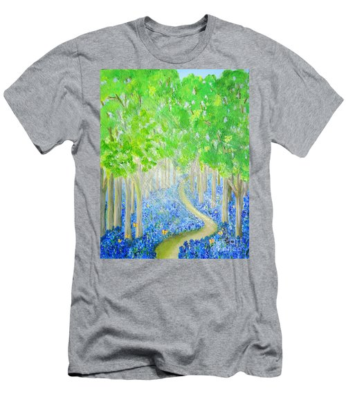 Bluebell Wood With Butterflies Men's T-Shirt (Athletic Fit)