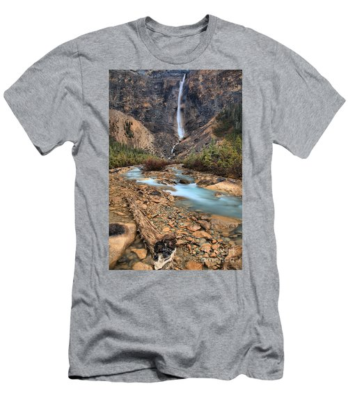 Men's T-Shirt (Slim Fit) featuring the photograph Blueberry Blue Waters Under Takakkaw Falls by Adam Jewell
