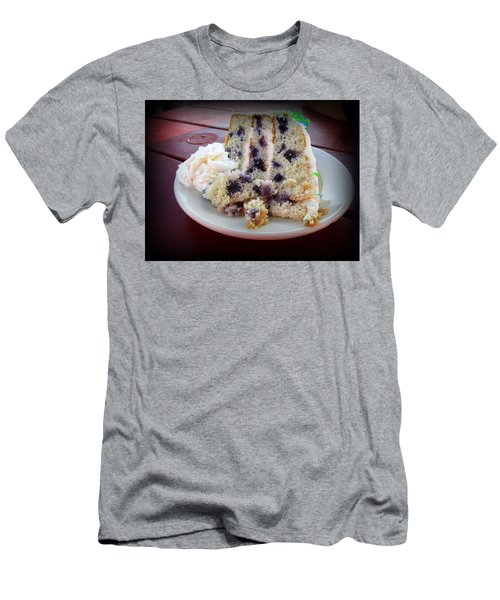 Blueberry Cake With Lemon Icing Men's T-Shirt (Athletic Fit)