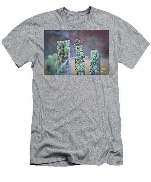 Men's T-Shirt (Slim Fit) featuring the photograph Bluebird 040517 by Douglas Stucky