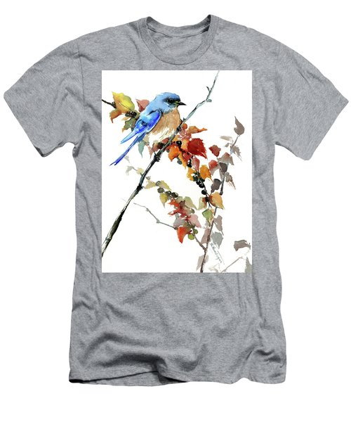 Bluebird In The Fall Men's T-Shirt (Athletic Fit)