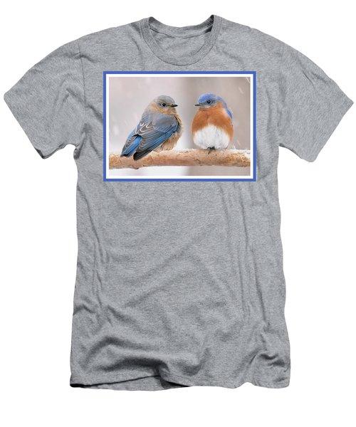 Bluebird Love Men's T-Shirt (Athletic Fit)
