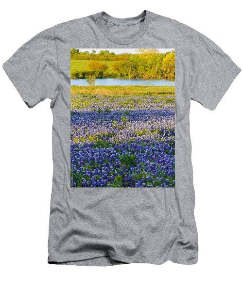 Bluebonnet Field Men's T-Shirt (Athletic Fit)