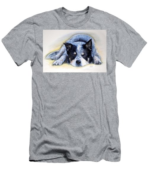 Men's T-Shirt (Athletic Fit) featuring the painting Bluey by Ryn Shell