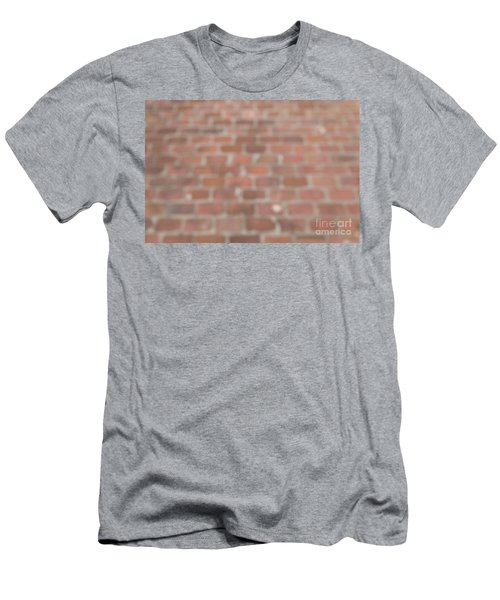 Men's T-Shirt (Athletic Fit) featuring the photograph Blurred Orange Brick Wall,floor Exterior,interior Pattern Design by Jingjits Photography