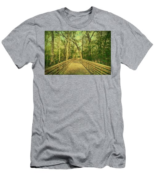 Men's T-Shirt (Athletic Fit) featuring the photograph Boardwalk by Lewis Mann