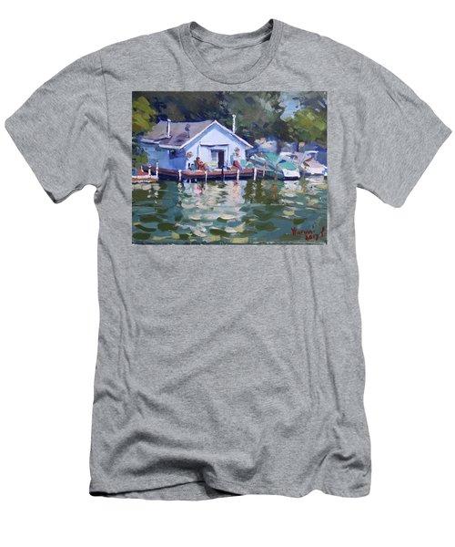 Boat House At Tonawanda Canal Men's T-Shirt (Athletic Fit)