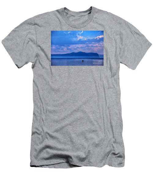 Boat In Lake Men's T-Shirt (Athletic Fit)
