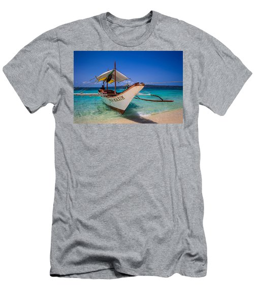 Boat On Boracay Island Men's T-Shirt (Athletic Fit)