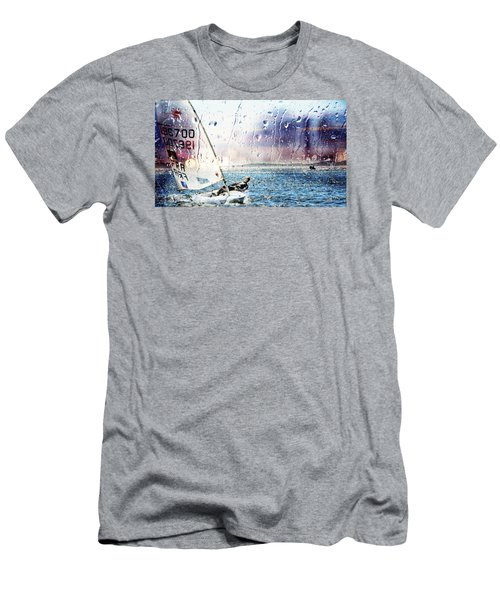Boat On The Sea Men's T-Shirt (Athletic Fit)
