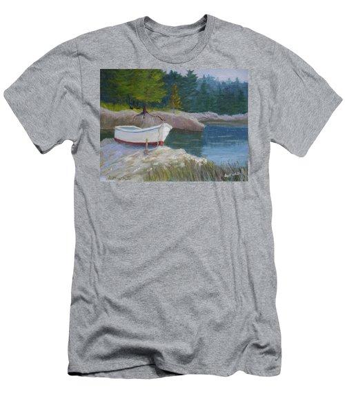 Boat On Tidal River Men's T-Shirt (Athletic Fit)