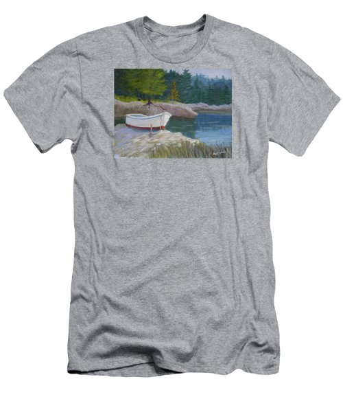 Boat On Tidal River Men's T-Shirt (Athletic Fit)