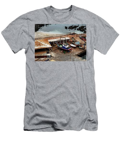 Boat Yard Iquique Harbor Chile Men's T-Shirt (Athletic Fit)