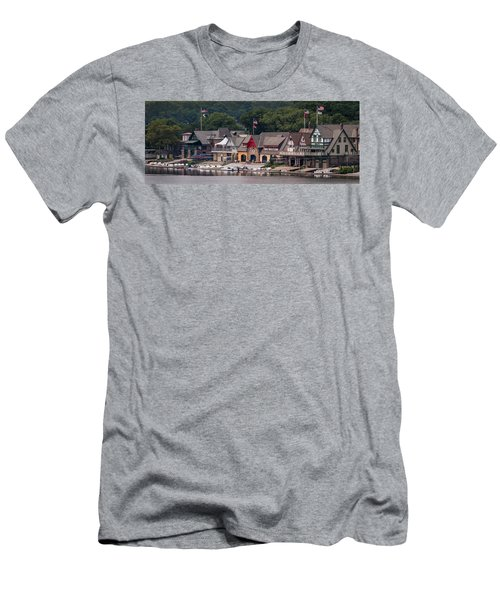Boathouse Row Philadelphia Pa  Men's T-Shirt (Slim Fit) by Terry DeLuco