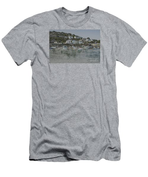 Boats At Looe Men's T-Shirt (Athletic Fit)