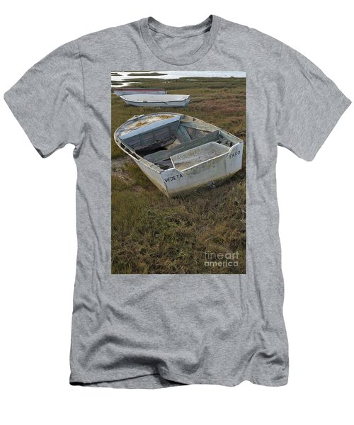 Boats In Ria Formosa Men's T-Shirt (Slim Fit)
