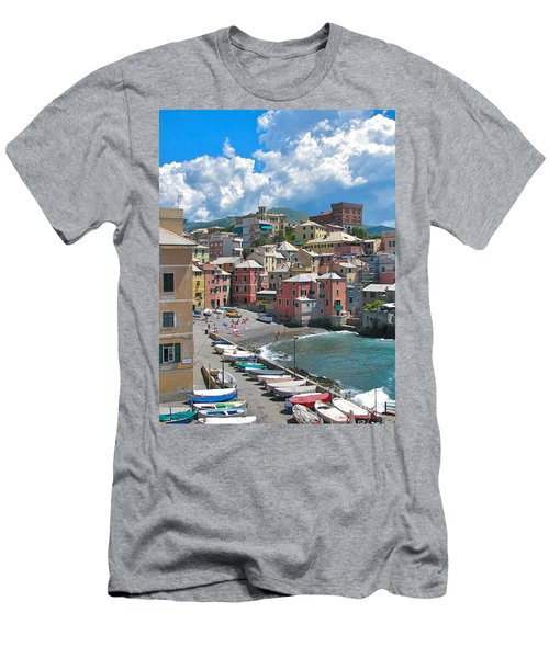 Boccadasse 2-genova, Italy Men's T-Shirt (Athletic Fit)