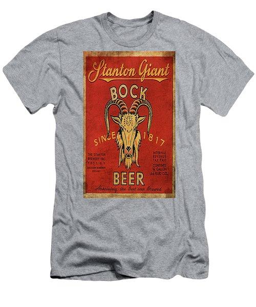 Men's T-Shirt (Slim Fit) featuring the digital art Bock Beer by Greg Sharpe